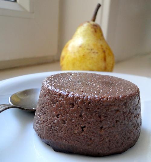 Pudding protéiné poire chocolat