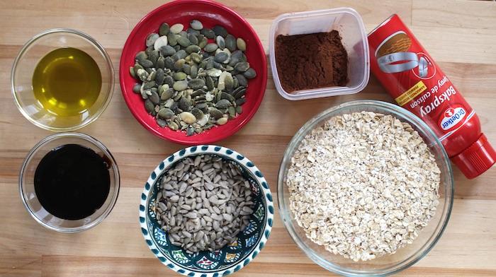 Ingrédients pour le granola