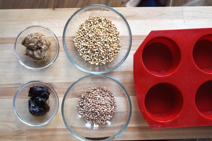ingrédients barres quinoa kasha