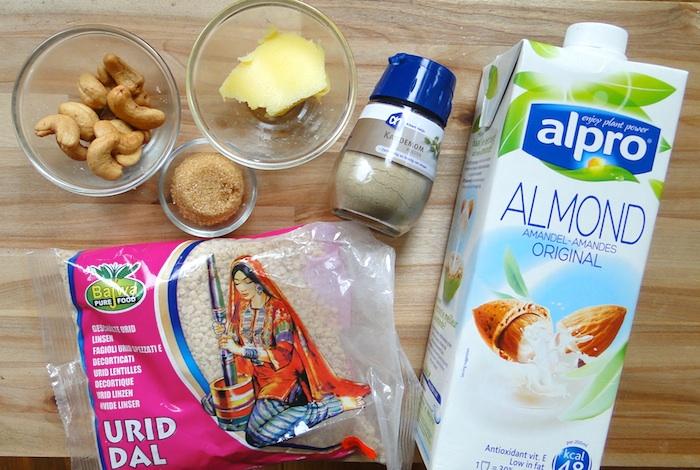 Ingrédients pour la recette des Urad Dal Laddos