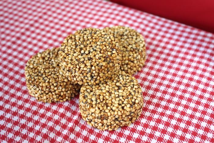 Palets de quinoa soufflée saveur caramel beurre salé