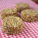 Palets de quinoa soufflée caramélisés