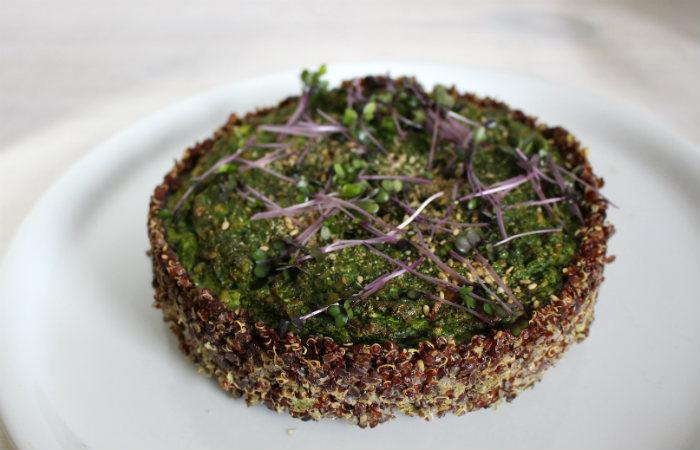 Petite quiche épinards quinoa