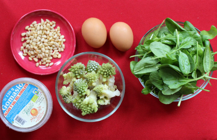 Ingrédients pour la garniture aux légumes de la quiche
