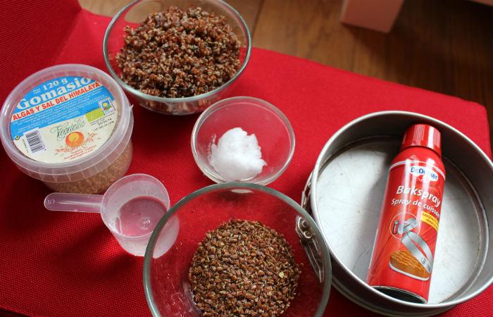 Ingrédients pour la croûte de la tarte