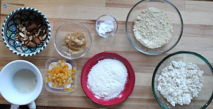 Ingrédients scones protéinés