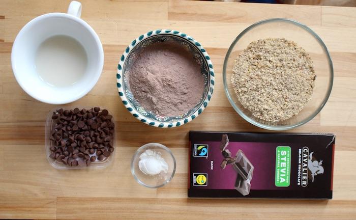 Ingrédients pour 4 cookies