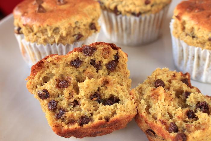 Muffin protéiné aux pépites de chocolat