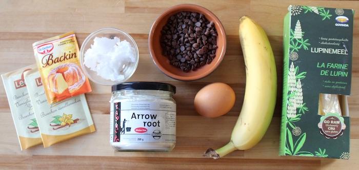 Ingrédients pour ces muffins protéinés