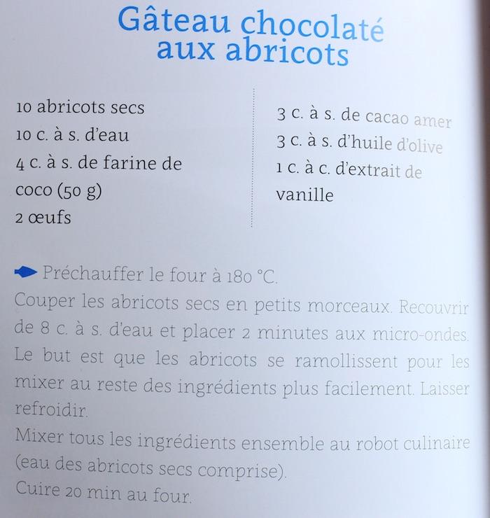 Ma recette de gateau au chocolat paléo copiée collée dans le livre