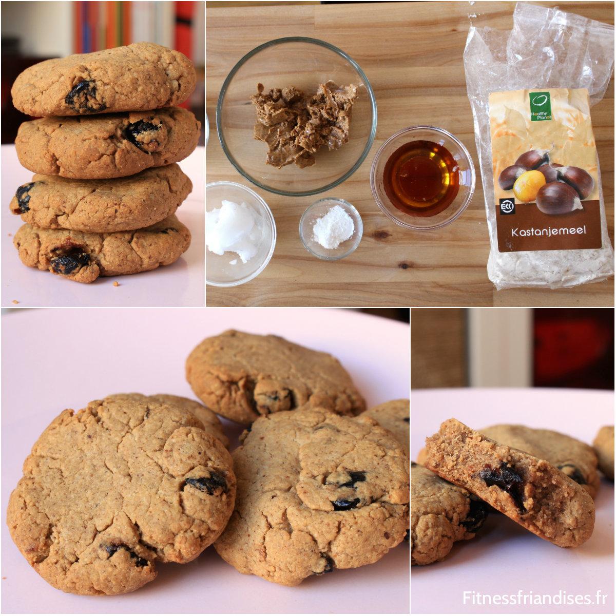 Biscuits paléo à base de farine de chataignes