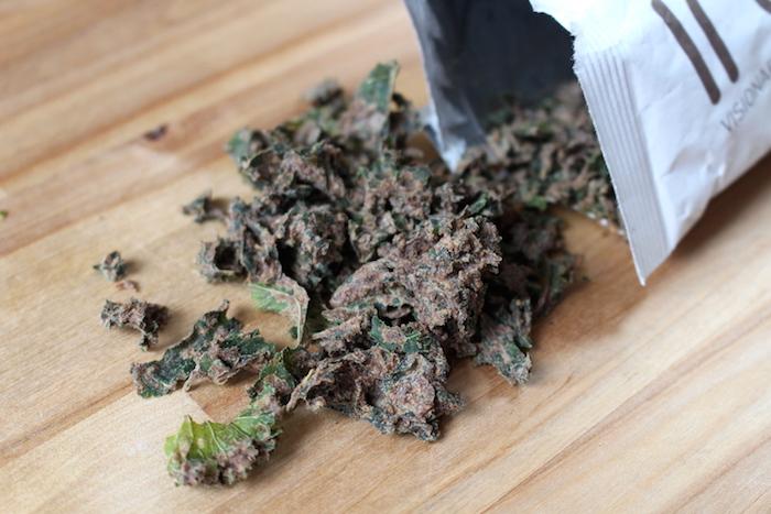 chips de kale au chocolat