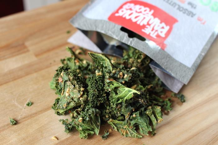 Chips de kale salées