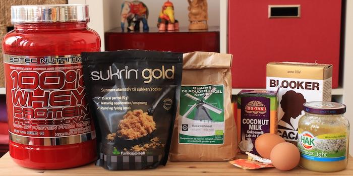 ingrédients pour muffins protéinés sans gluten