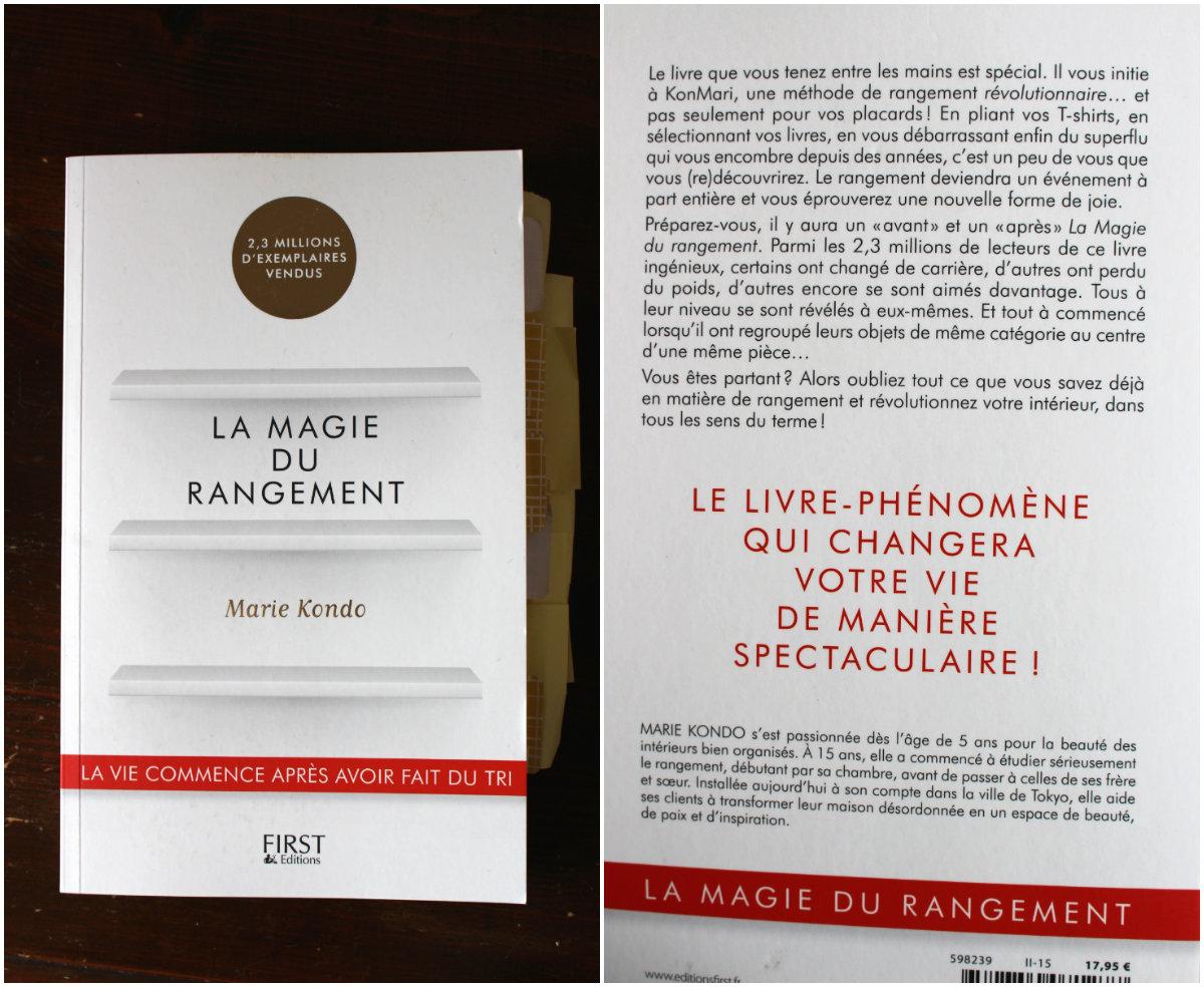 Livre la Magie du rangement Marie Kondo