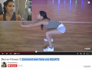 tutoriel de squat sur youtube :  information erronée