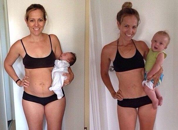 Avant après d'une maman