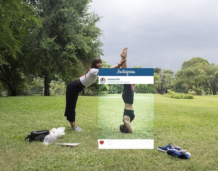 Photo Instagram headstand