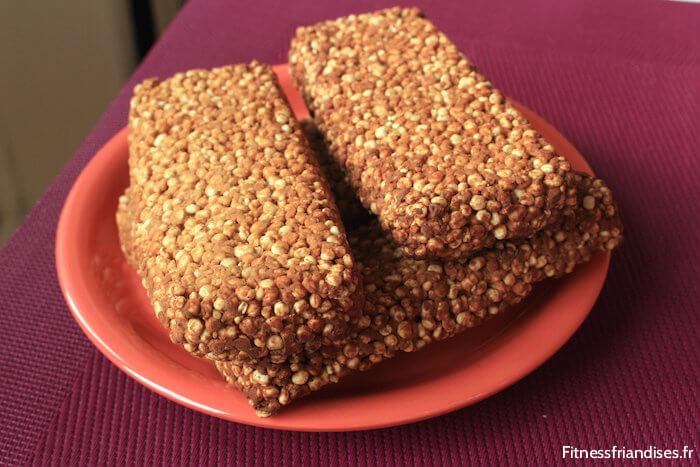 Barres de quinoa soufflée faites maison