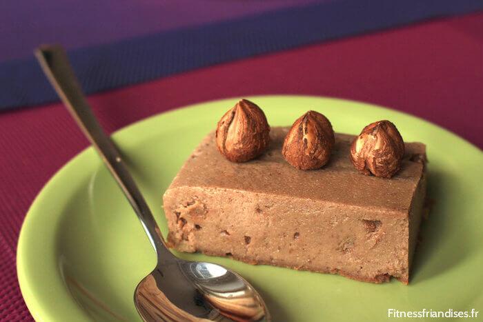 Cheesecake au praliné, sans sucre ajouté