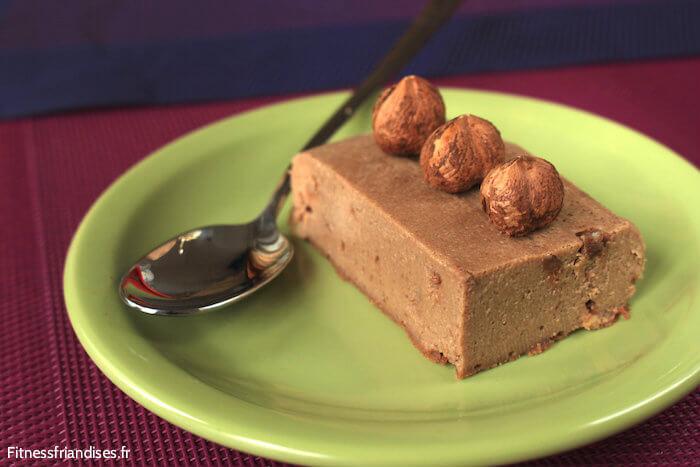 Cheesecake aux noisettes, sans sucre ajouté