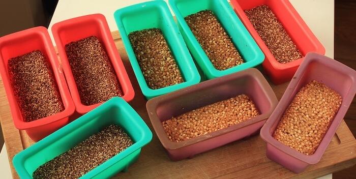 Moules en silicones pour barres de céréales faites maison