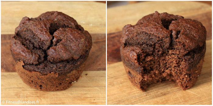 Muffin au chocolat et au fonio