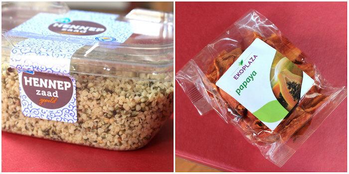 Papaye séchée et graines de chanvre