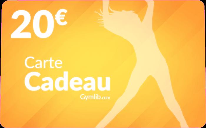 Carte cadeau Gymlib de 20 euros