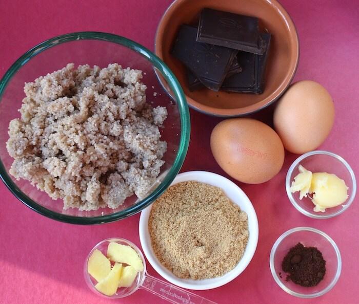 Ingrédients pour les muffins au fonio