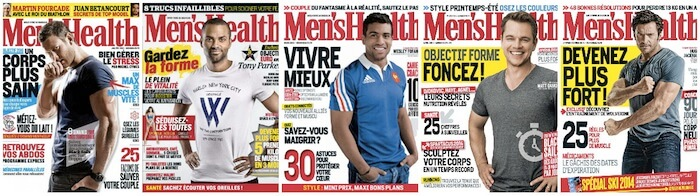 Couvertures du magazine Mens Health France