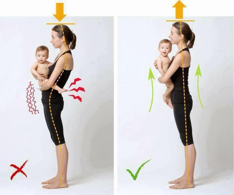 Posture pour porter bébé