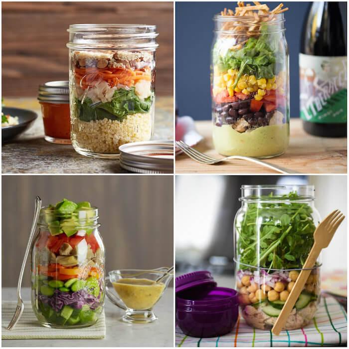 Mason jar salads, les salades en pot
