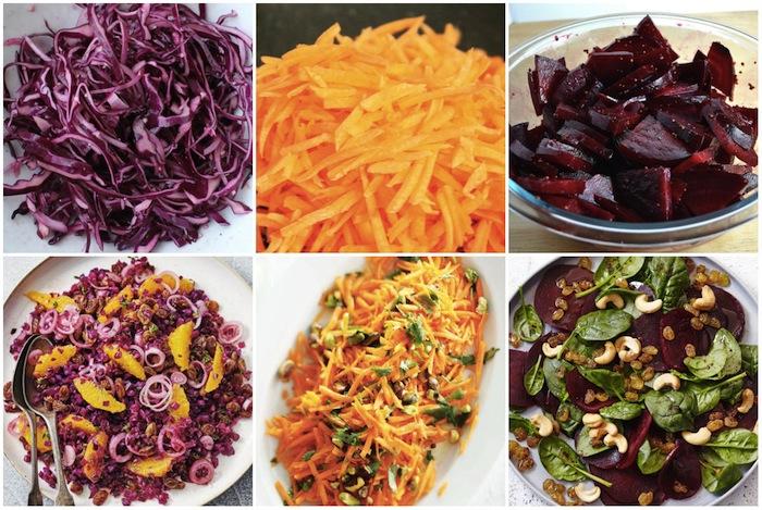 Salades de base rendues plus glamour avec quelques ingrédients supplémentaires