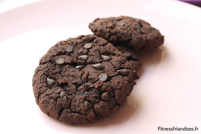 Double chocolate cookies végétaliens