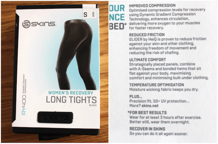 Post-workout womens tights Skins