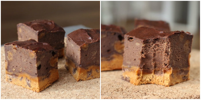 Brownie-cheesecake aux Quest bars