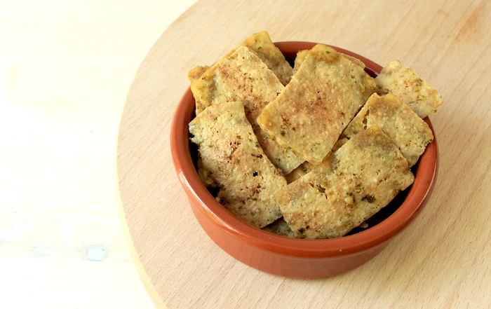 Chips de tofu cuites au micro-ondes